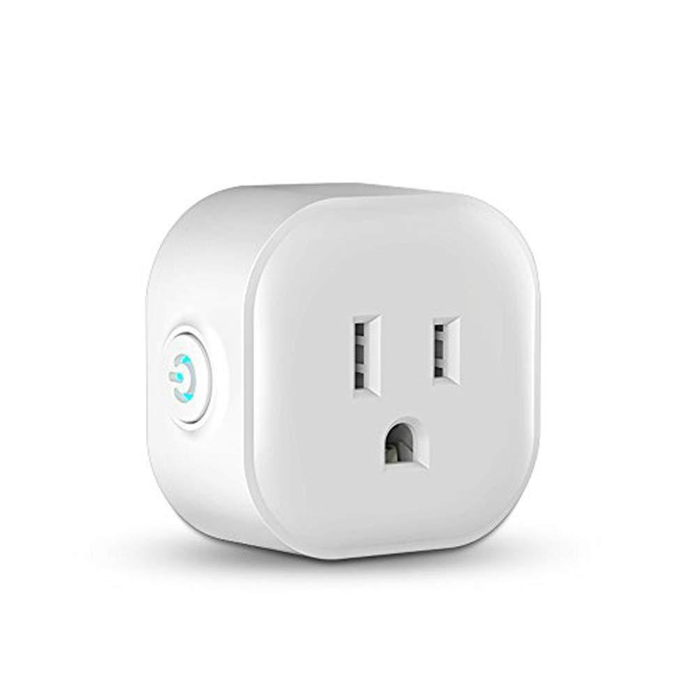 Smart Plug Mini Wireless Remote Control WiFi Smart Plug Outlet Compatible with Amazon Alexa and Google Home
