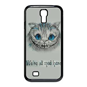 Alice in Wonderland We're all mad here Cheshire Cat Always Grin Especial Durable Hard Plastic Case Cover Fits Samsung Galaxy S4 I9500 Design Yedda DIY