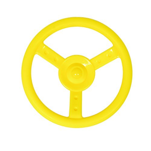 Swingset Steering Wheel Attachment Playground Swing Set Accessories Replacement (Yellow)