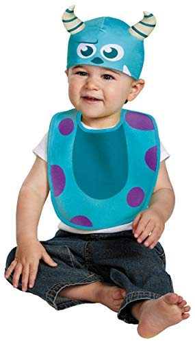 (Disguise Baby's Disney Pixar Monster's University Sulley Infant Bib and Hat, Blue/Purple/White, 0-6)