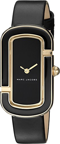 Marc Jacobs Women's 'The Jacobs' Quartz Stainless Steel and Leather Casual Watch, Color:Black (Model: MJ1566) (Women Black Marc Jacobs Watches)