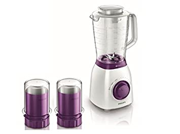 Philips Viva Collection HR2169/01 - Licuadora (Batidora de vaso, Violeta, Blanco, 1 m, ABS sintéticos, Acero inoxidable, SAN): Amazon.es: Hogar