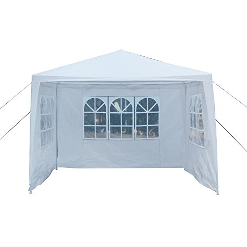 Z ZTDM Party Tent, Father's Day Gift, Wedding 10x10 Outdoor White Canopy Screen Sun Shelters Houses Gazebos Heavy Duty with 3 Removable Sides Sidewalls for BBQ Carport by Z ZTDM