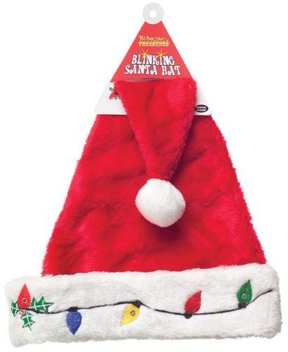 amazon com blinking santa hat toys games