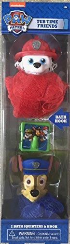Nickelodeon Paw Patrol Tub Time Friends Bath Set For Kids (+3 years) | 2 Bath Squirters & Hook | Baby Bath Gift Set | Kids Bath Gift (Gift Baskets Oahu)