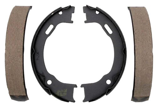 (ACDelco 17745B Professional Bonded Rear Drum In-Hat Parking Brake Shoe Set)