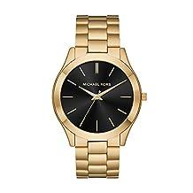Michael Kors Men's Slim Runway Quartz Stainless-Steel Strap, Gold, 22 Casual Watch (Model: MK8621)