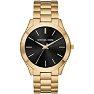 Michael Kors Men's 'Slim Runway' Quartz Stainless Steel Casual Watch, Color:Gold-Toned (Model:...
