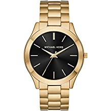Michael Kors Men's 'Slim Runway' Quartz Stainless Steel Casual Watch, Color:Gold-Toned (Model: MK8621)