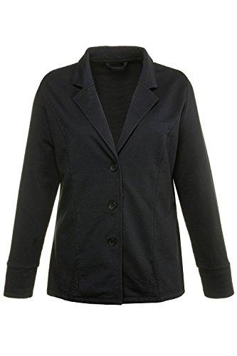 Ulla Popken Women's Plus Size Cold-Dye Jersey Knit Blazer Black 30 710260 10 ()