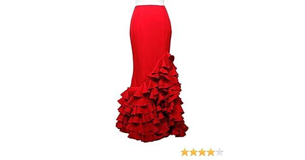 Doña Ana Falda Flamenca Señora Modelo Almendralejo Roja: Amazon.es ...