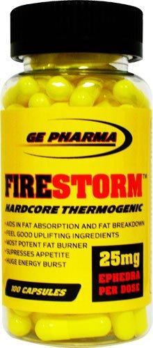 GE Pharma Fire Storm, 100-capsule Bottle