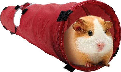 Living World Pet Tunnel, Red/Grey - Guinea Pig Playpen