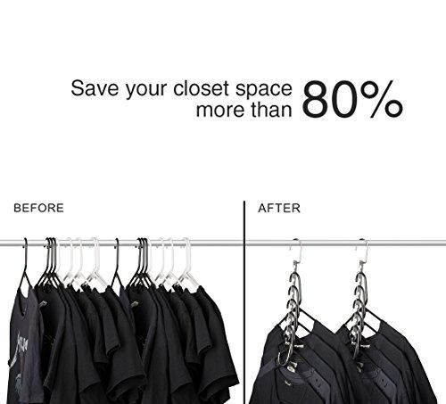 HOUSE DAY Wonder Magic Hangers Space Saving Hangers for Clothes Hangers Space Saving Wardrobe Clothing Hanger Oragnizer, 2019 Wonder Closet Space Saver Hangers (12 Pack)