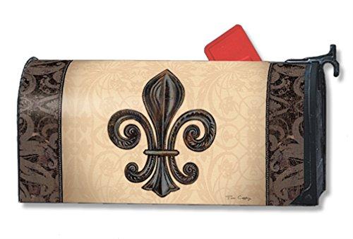 MailWraps Fleur de Lis Mailbox Cover #01287 by MailWraps