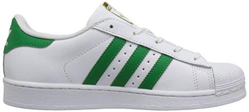 adidas Originals Kinder Superstar Sneaker (großes Kind / kleines Kind / Kleinkind / Kleinkind) Ftwwht, grün, goldmt