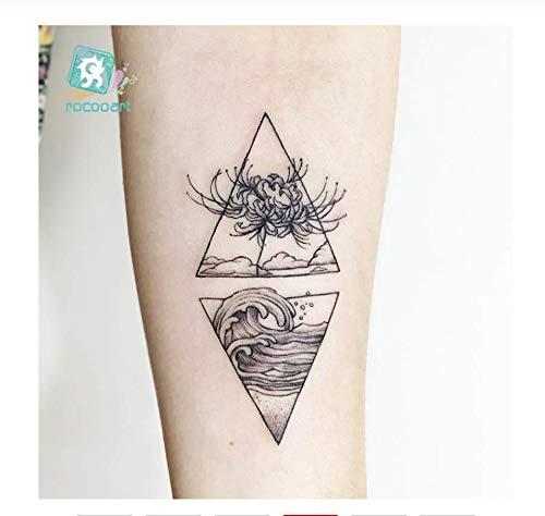 DRTHUKG Etiqueta Engomada del Tatuaje Flor Serpiente Tatoo Lindo ...