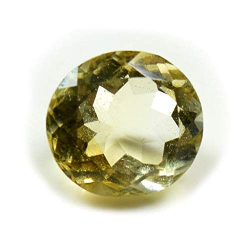 Jewelryonclick Natural Citrine Gemstone 3 CT Round Shape Birthstone at Wholesale Rate for Jewelry Making ()