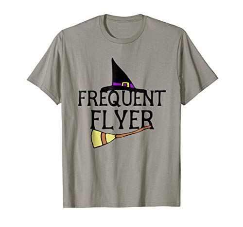 Frequent Flyer T-Shirt Funny Witch Hat Halloween