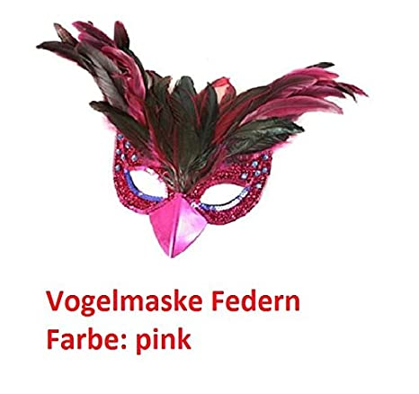 Gold Vogelmaske Federn Mottoparty Fasching Karneval