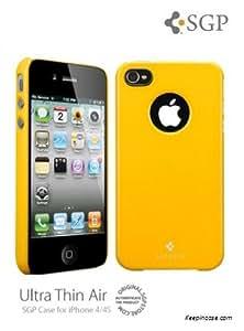 """Spigen SGP08379 3.5"""" Funda Amarillo funda para teléfono móvil - fundas para teléfonos móviles (Funda, Apple, Apple iPhone 4 / 4S, 8,89 cm (3.5""""), Amarillo)"""