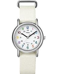 Timex Weekender Slip Through Mid Size - White