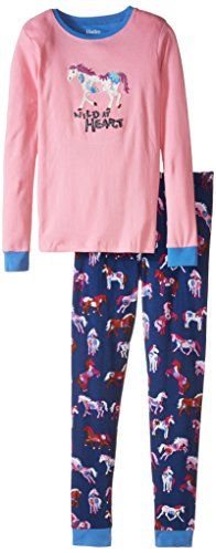 Pajama Set Applique - Flower Horses, Pink, 5 ()