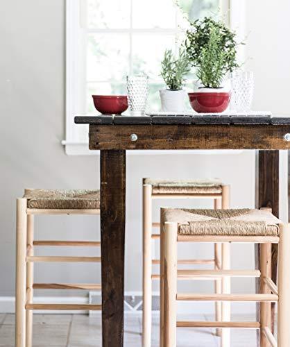 Unfinished White Stool Wood Bar - Dixie Seating Calabash Wood Barstool No. 330W Unfinished