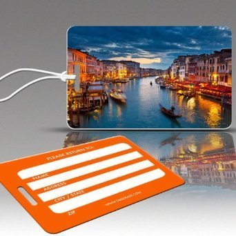 Insight Design 770809 TagCrazy Luggage Tags- Canals of Venice Italy- Set of Three (Insight Best Of Italy)