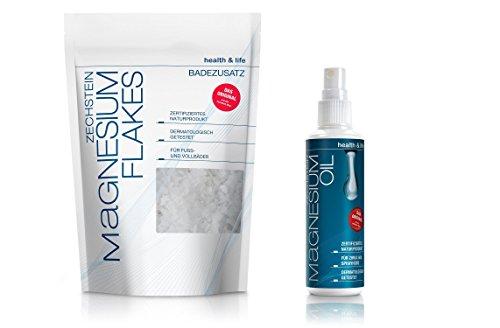 Zechstein Magnesium Kennlern-Set: Magnesium Spray 100 ml und Magnesium Flakes 500 g