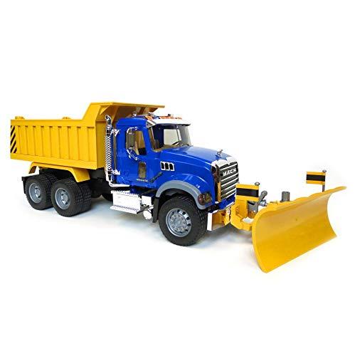 Bruder MACK Granite Dump Truck with Snow Plow Blade