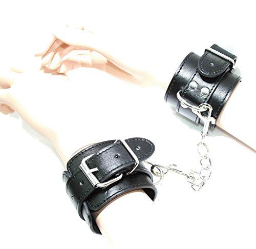 jowiha Lederhandschellen mit Karabiner Handschellen aus Leder
