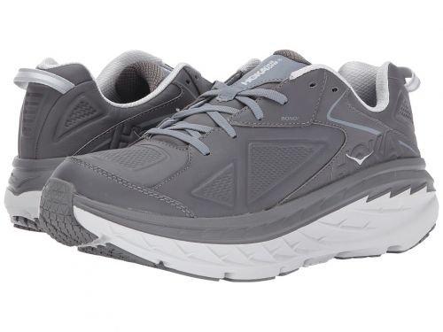 Hoka One One(ホカオネオネ) メンズ 男性用 シューズ 靴 スニーカー 運動靴 Bondi Leather - Charcoal [並行輸入品] B07C8GW6R7