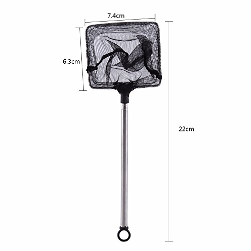 AliceInter Aquarium Fish Shrimp Adjustable Telescopic Landing Net Accessories Tool by AliceInter