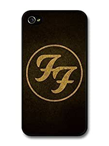 KOKOJIA Accessories Foo Fighters Sepia Logo Black Background case for iPhone 4 4S