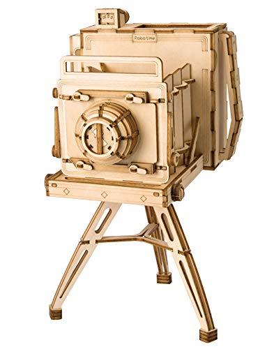 Hands Craft Modern Laser Cut Wooden Puzzles (Vintage Camera)