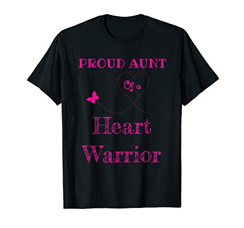 Heart Transplant Tshirt - Proud Aunt of a Heart Warrior gift