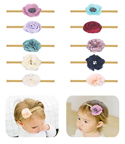 - Baby Girl Headbands Bows flowers,10 Pack Hair Accessories for Newborn Infant Toddler Gift by FANCY CLOUDS