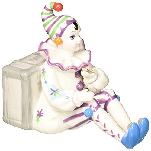 Cosmos Clown Sitting by Luggage Ceramic Musical
