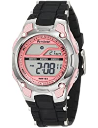 Women's 456984PNK Pink and Black Chronograph Digital Watch