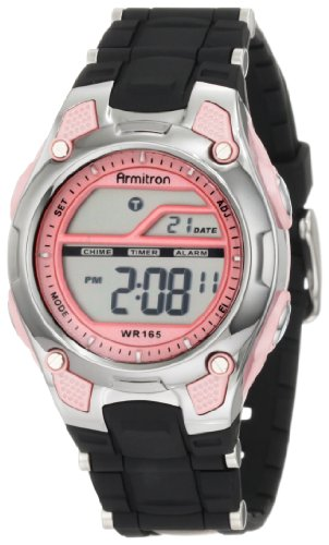Armitron Sport Women's 456984PNK Pink and Black Chronograph Digital (Lady Military Watches)
