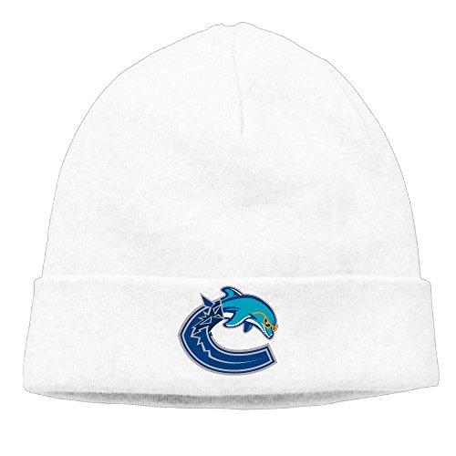 ElishaJ Unisex Miami Vancouver Sport Mixed Beanie Cap Hat Ski Hat Cap Snowboard Hat White