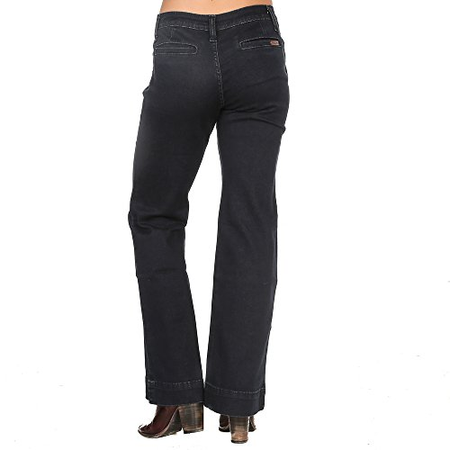 Jeans Wide Rise Mid Leg (Wrangler Women's Retro Mid Rise Wide Leg Jean, Dark Blue, 1X32)