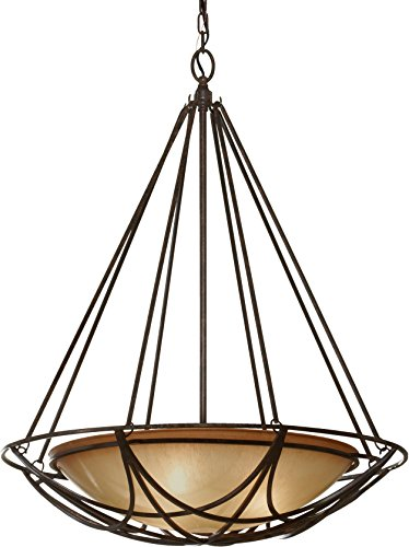 Bronze Bowl Pendant Light in US - 8
