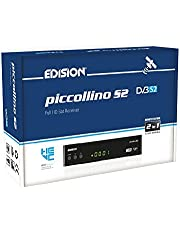 EDISION Piccollino DVB-S2 Full HD satellietontvanger H.265/HEVC kaartlezer USB zwart