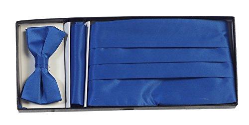 Satin Cummerbund (Gioberti Boys' Satin Formal Bow Tie, Pocket Square, and Cummerbund Set, Royal Blue)