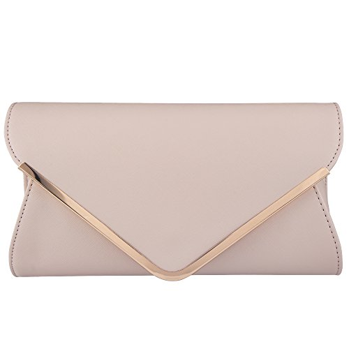 Bagood Leather Envelope Clutches Bag for Women Evening Handbags Shoulder Bags