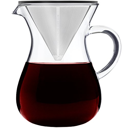 Barista Warrior Pour Over Coffee Maker with Permanent Filter - 5 cup