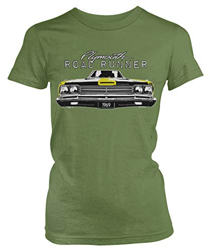 Amdesco Junior's Plymouth Road Runner Officially Licensed T-Shirt, Moss Green XL ()