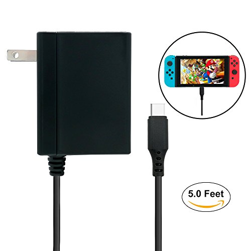 FastSnail AC Adapter for Nintendo Switch, Support TV Mode (5 FT/1.5M)
